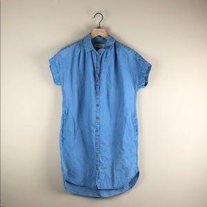 Madewell Chambray Shirt Dress (Size XS)